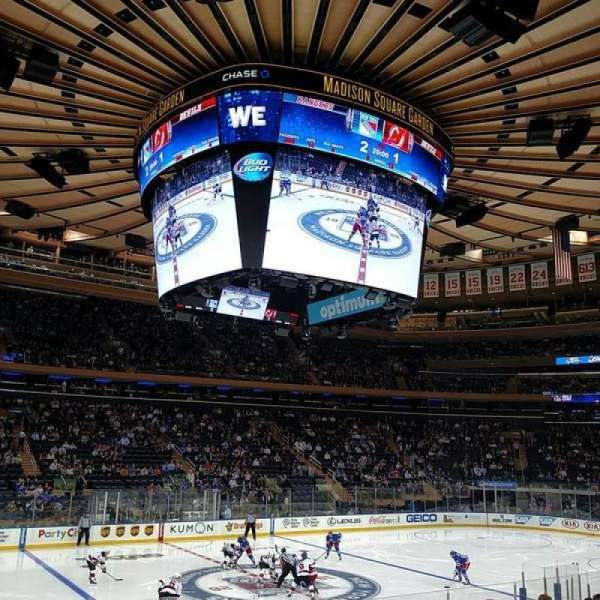 Madison Square Garden, section: 106, row: 12