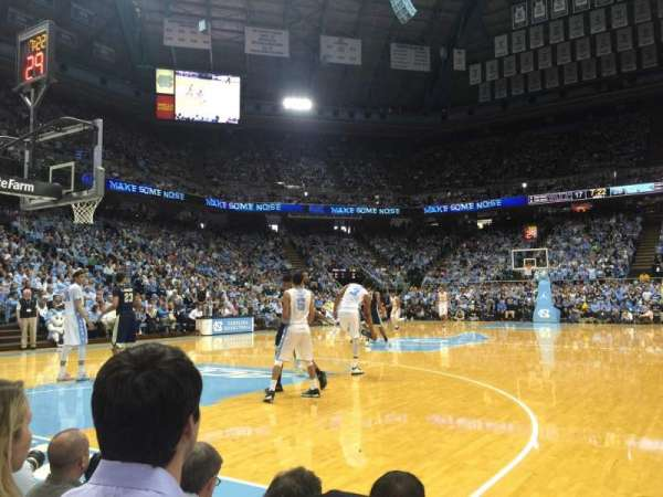 Dean E. Smith Center, section: 100, row: A, seat: 5