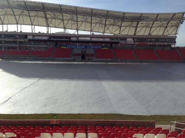 Rio Tinto Stadium, section: 1, row: p, seat: 15