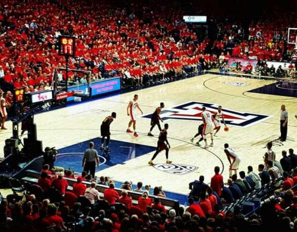 McKale Center, section: MI 7, row: 25, seat: 13