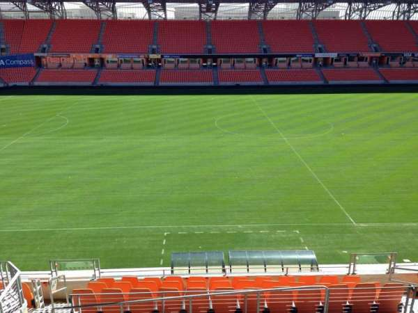 BBVA Stadium, section: 206C, row: B, seat: 10