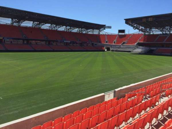 BBVA Compass Stadium, section: 109, row: F, seat: 15