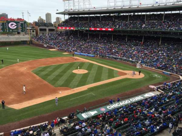 Wrigley Field, section: 308L, row: 1, seat: 22