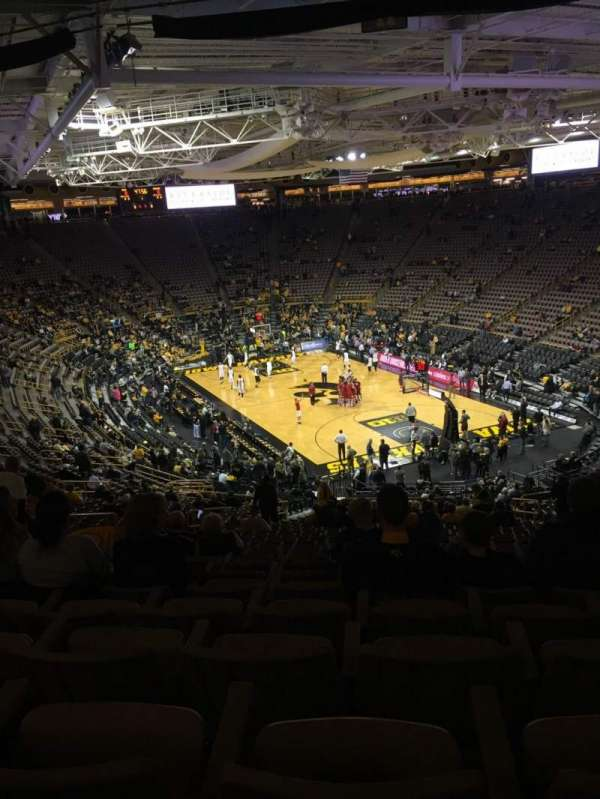 Carver-Hawkeye Arena, section: JJ, row: 40, seat: 9