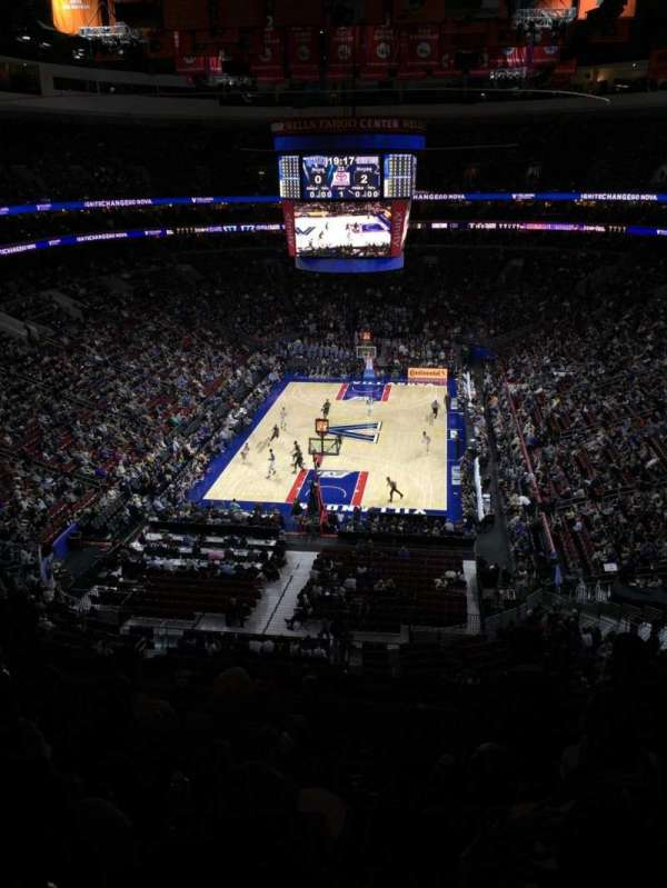 Wells Fargo Center, section: 219A, row: 5, seat: 9