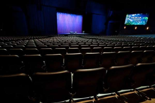 Microsoft Theater, section: Orchestra Center Left, row: S, seat: 413
