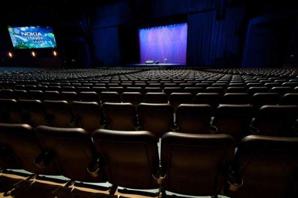 Microsoft Theater, section: Orchestra Center Right, row: S, seat: 214