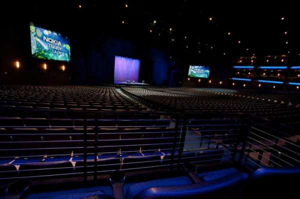 Microsoft Theater, section: Orchestra Left, row: SS, seat: 504