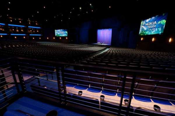 Microsoft Theater, section: Orchestra Center Right, row: SS, seat: 205