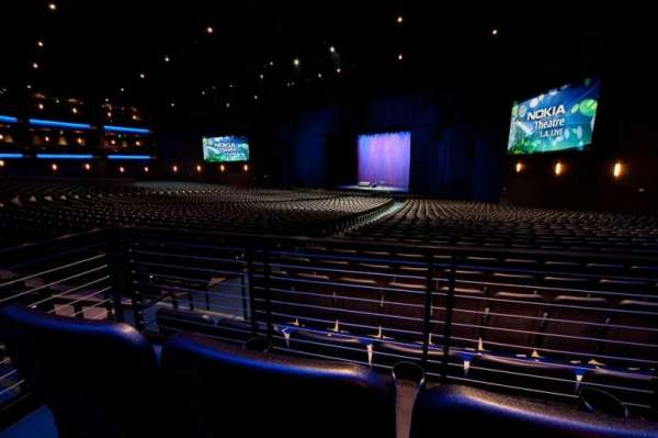 Microsoft Theater, section: Orchestra Right, row: SS, seat: 105