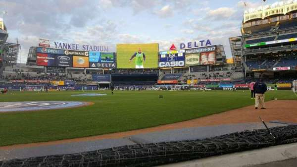 Yankee Stadium, section: 018, row: 1, seat: 6