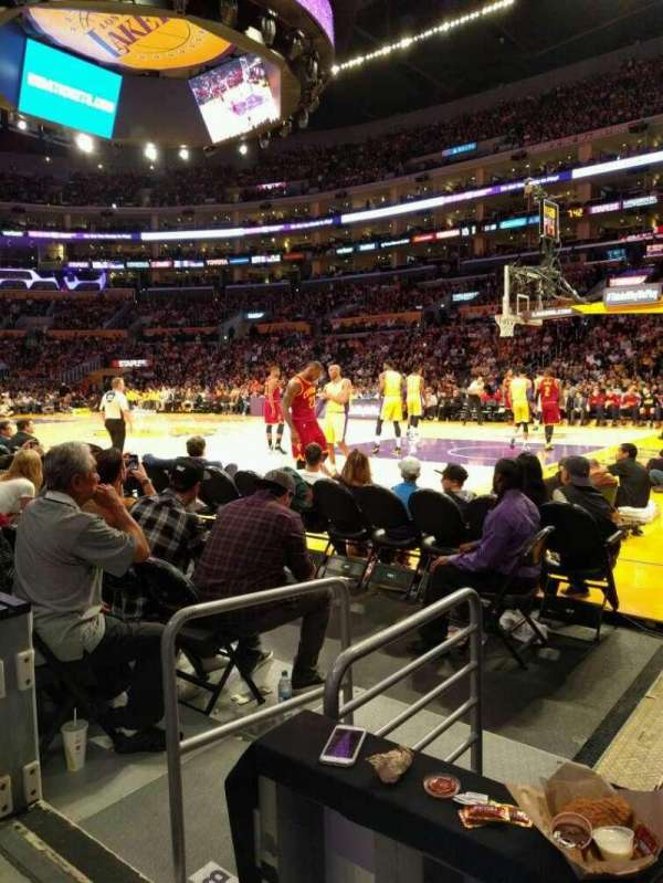 Staples Center, section: 109, row: 2, seat: 5