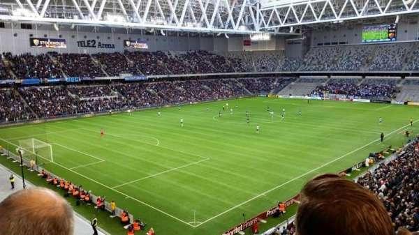 Tele2 Arena, section: B321, row: 6, seat: 66