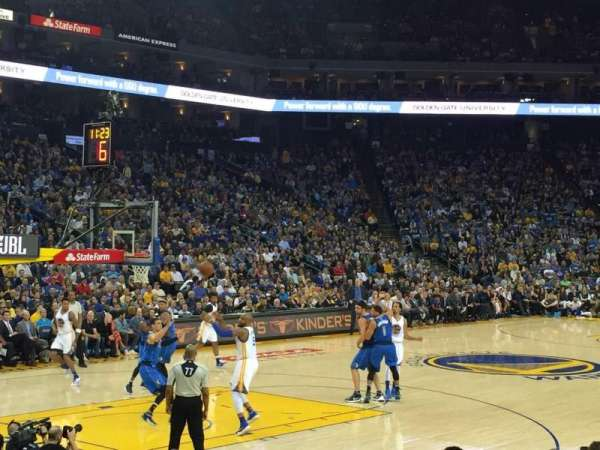 Oracle Arena, section: 119, row: 5, seat: 12