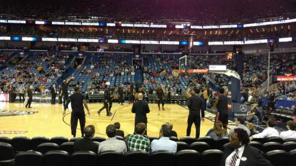 Smoothie King Center, section: 124, row: 7, seat: 3