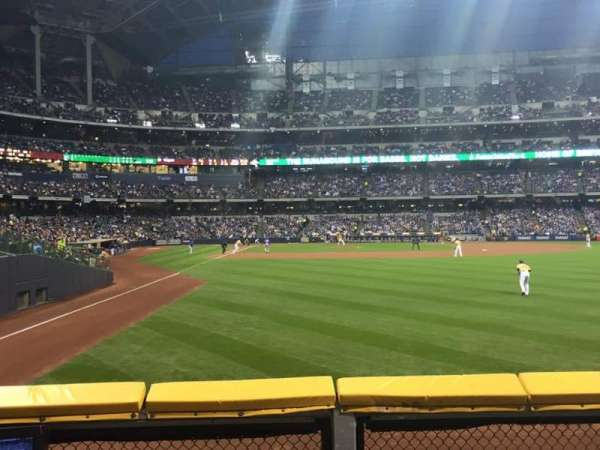 Miller Park, section: 104, row: 1, seat: 16
