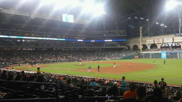Minute Maid Park, row: 27, seat: 5