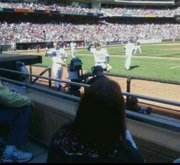 Target Field, section: 3, row: 2  , seat: 1