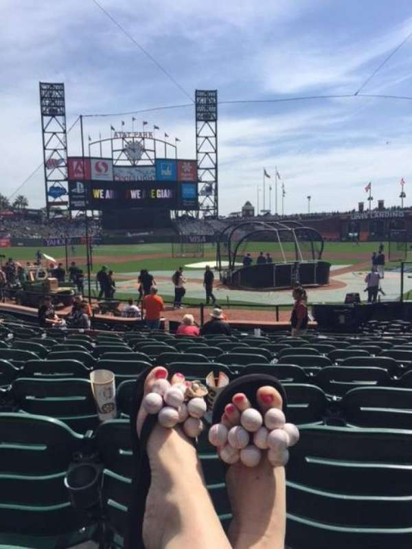 Oracle Park, section: 117, row: K, seat: 10