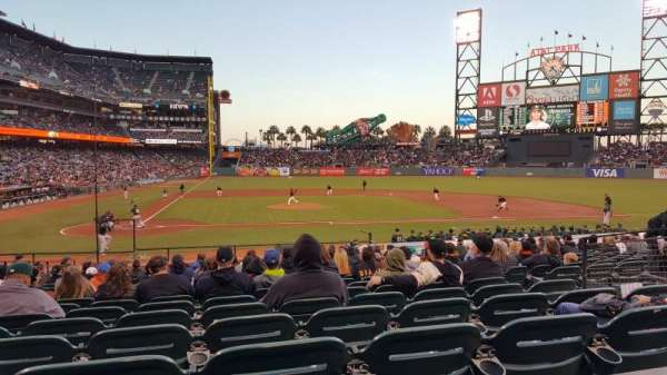 Oracle Park, section: 110, row: 23, seat: 1