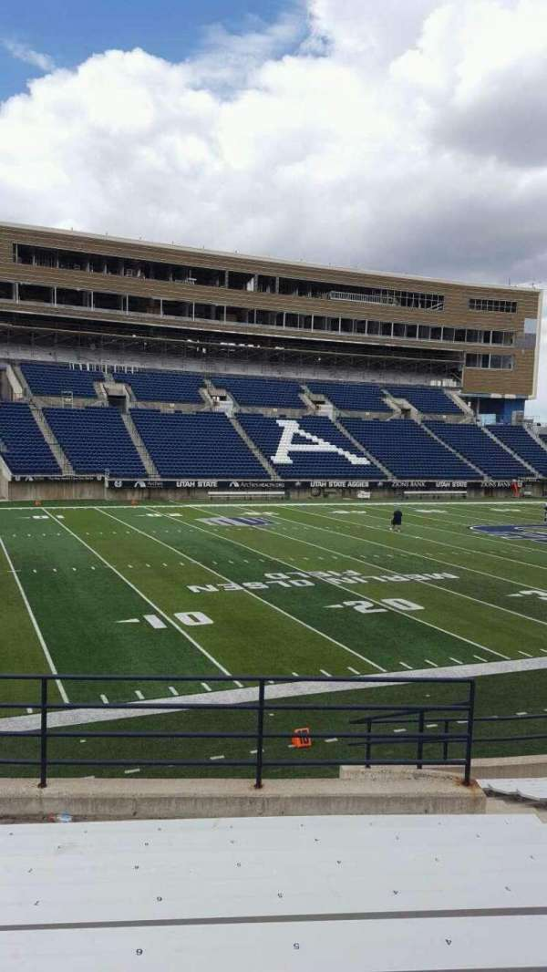 Maverik Stadium, section: A, row: 9, seat: 6