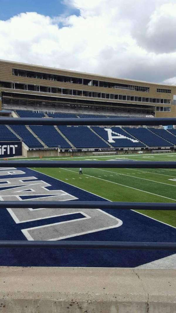 Maverik Stadium, section: b, row: 1, seat: 10
