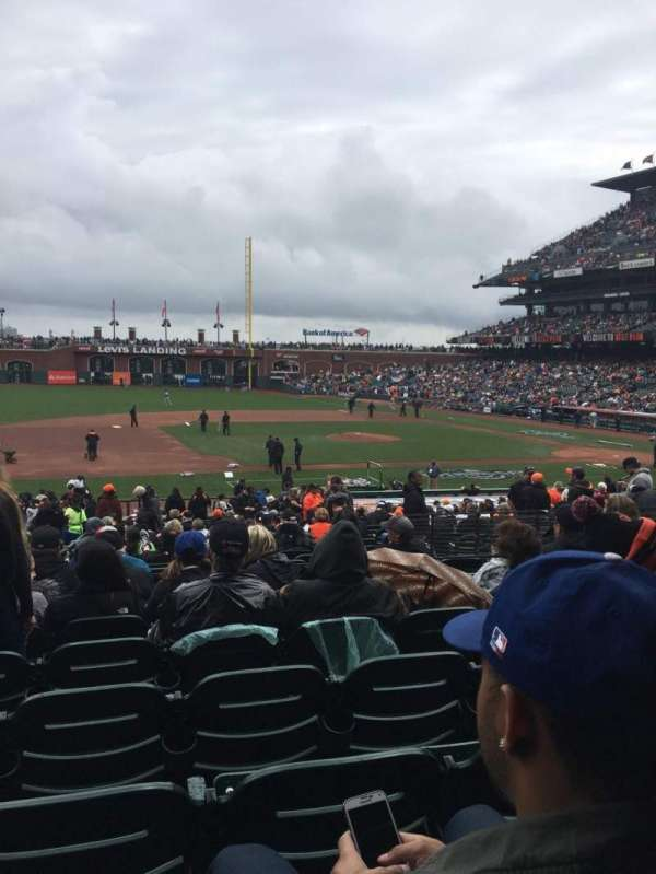 Oracle Park, section: 124, row: 29, seat: 16