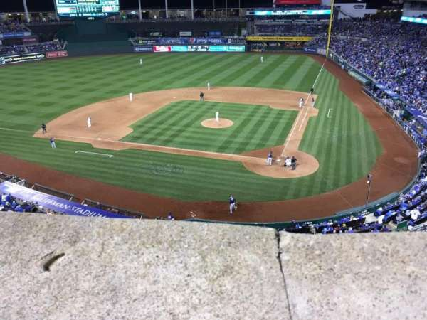 Kauffman Stadium, section: 415, row: A, seat: 10