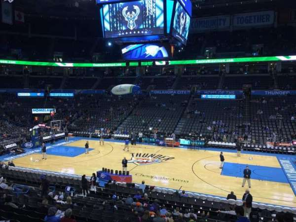 Chesapeake Energy Arena, section: 105