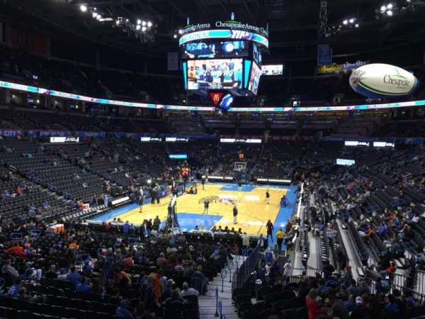 Chesapeake Energy Arena, section: 110