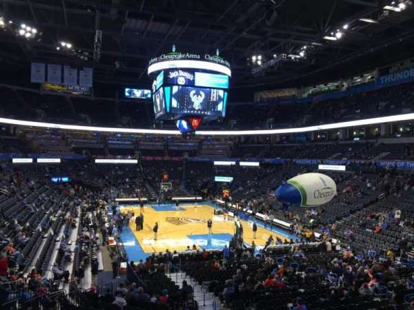 Chesapeake Energy Arena, section: 112