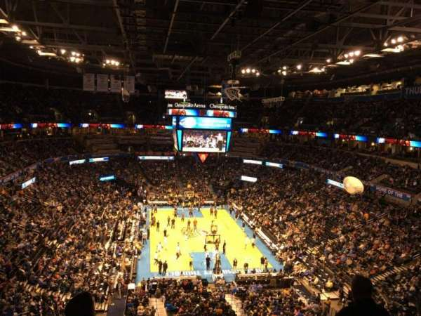 Chesapeake Energy arena, section: 317