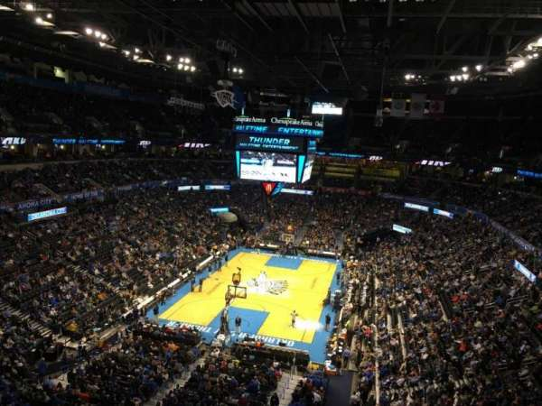 Chesapeake energy arena, section: 330