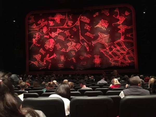 Minskoff Theatre, section: Orchestra C, row: Q, seat: 119