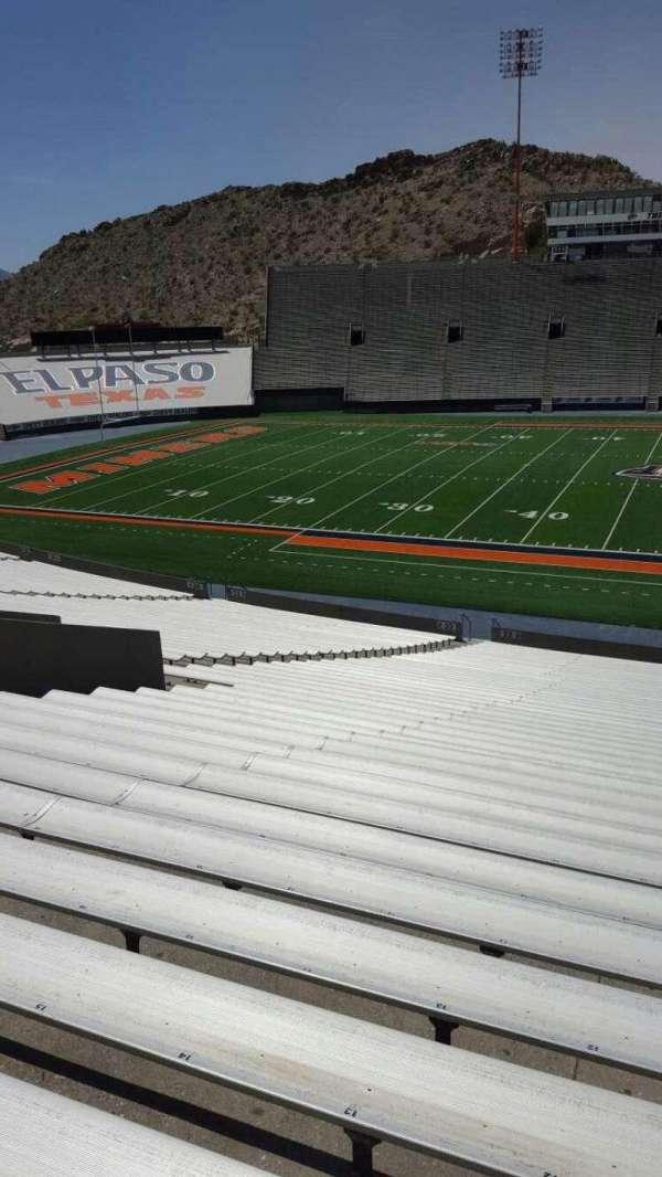 Sun Bowl Stadium, section: 22, row: 44, seat: 12