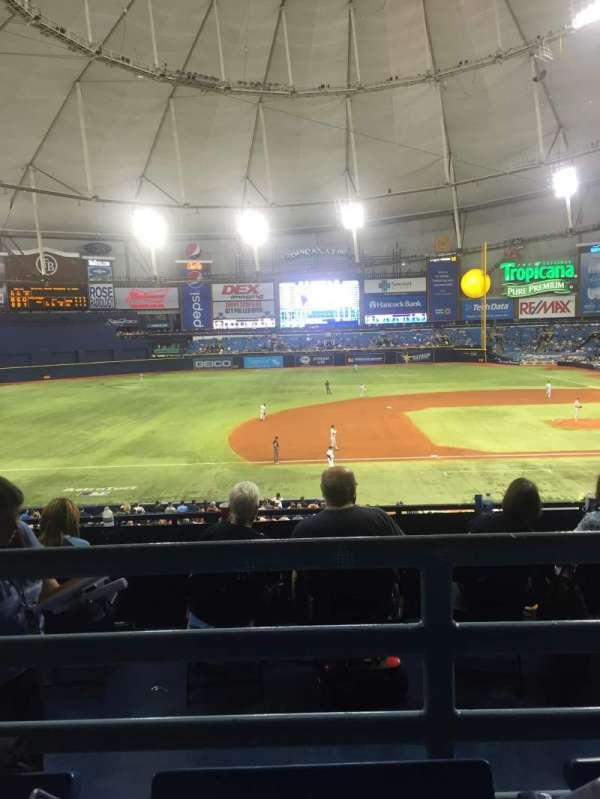 Tropicana Field, section: 119, row: QQ, seat: 6
