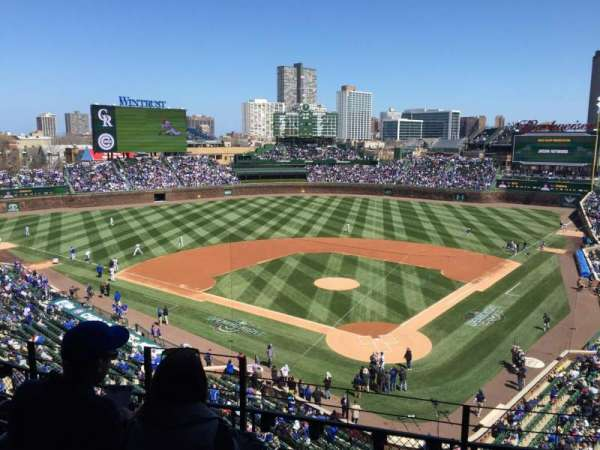 Wrigley Field, section: 316L, row: 5, seat: 4