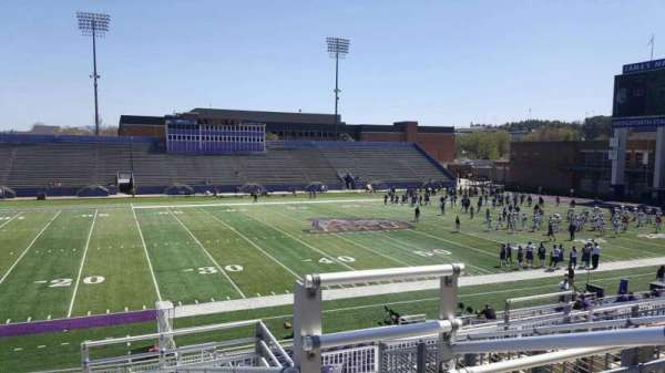 Bridgeforth Stadium, section: 209, row: g, seat: 1