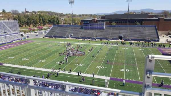 Bridgeforth Stadium, section: 305, row: b, seat: 1