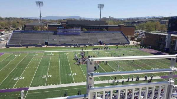 Bridgeforth Stadium, section: 308, row: b, seat: 1