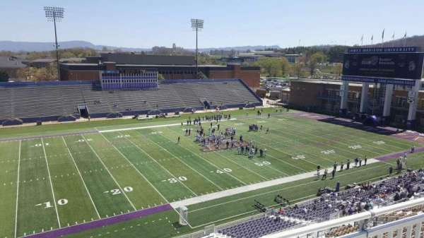 Bridgeforth Stadium, section: 309, row: b, seat: 23