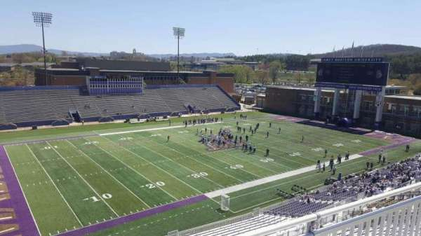 Bridgeforth Stadium, section: 310, row: b, seat: 24