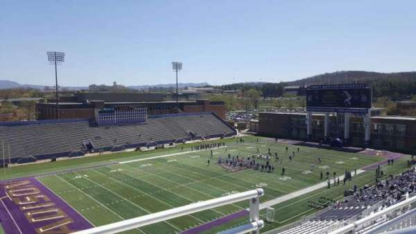 Bridgeforth Stadium, section: 312, row: b, seat: 1