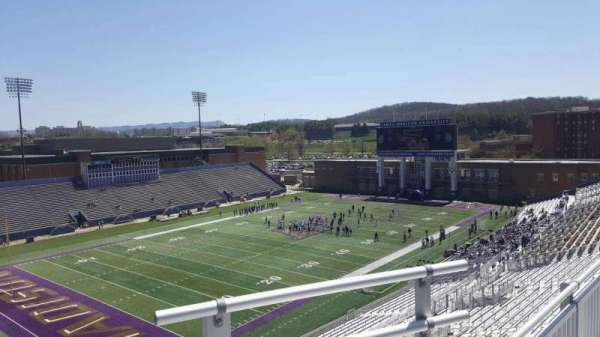 Bridgeforth Stadium, section: 313, row: b, seat: 1