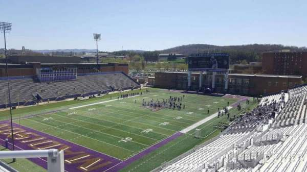 Bridgeforth Stadium, section: 313, row: b, seat: 17