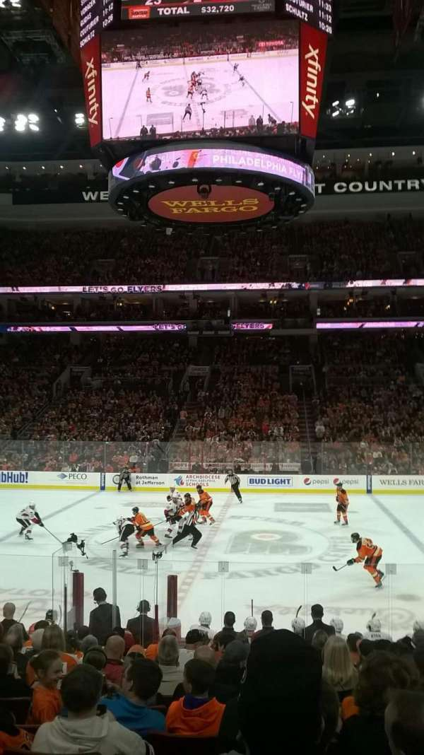 Wells Fargo Center, section: 101, row: 14, seat: 14