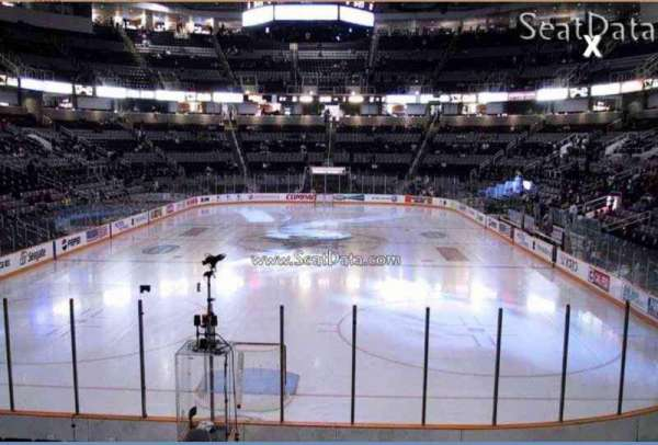 SAP Center, section: 107, row: 10