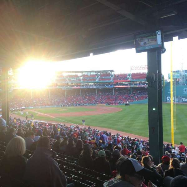 Fenway Park, section: Grandstand 7, row: 10, seat: 2