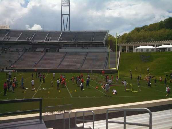 Scott Stadium, section: 104, row: L, seat: 4