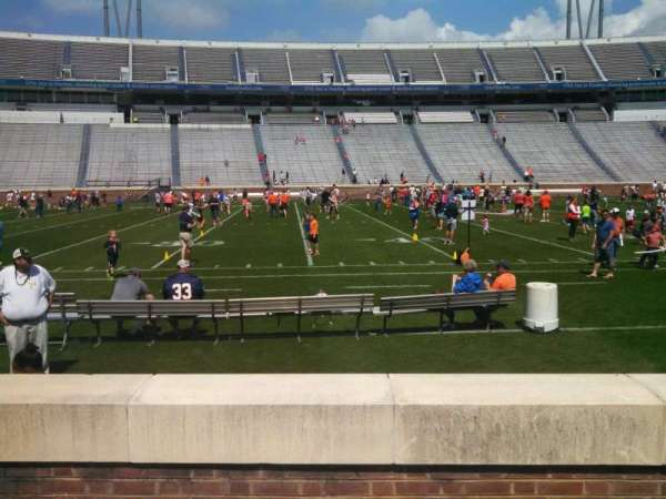 Scott Stadium, section: 126, row: D, seat: 18